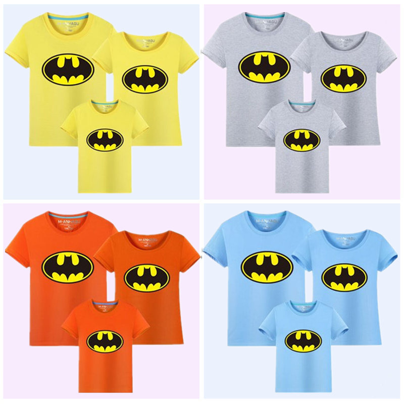 Family Matching Outfits Batman T-shirt Mommy and Me Clothes fashion - Children's Clothing - Photo 5