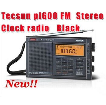 Free Shipping  Retail-Wholesale Tecsun pl600 FM radio Stereo pl-600 fm Radio clock radio free shipping professional manufacturer 1w 6w fm stereo pll radio broadcast transmitter 76mhz to 108mhz adjustable