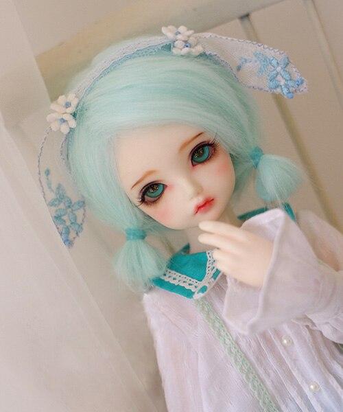 Peluca 22cm Head Circumference 30cm Length 1//6 BJD Doll Wig SD