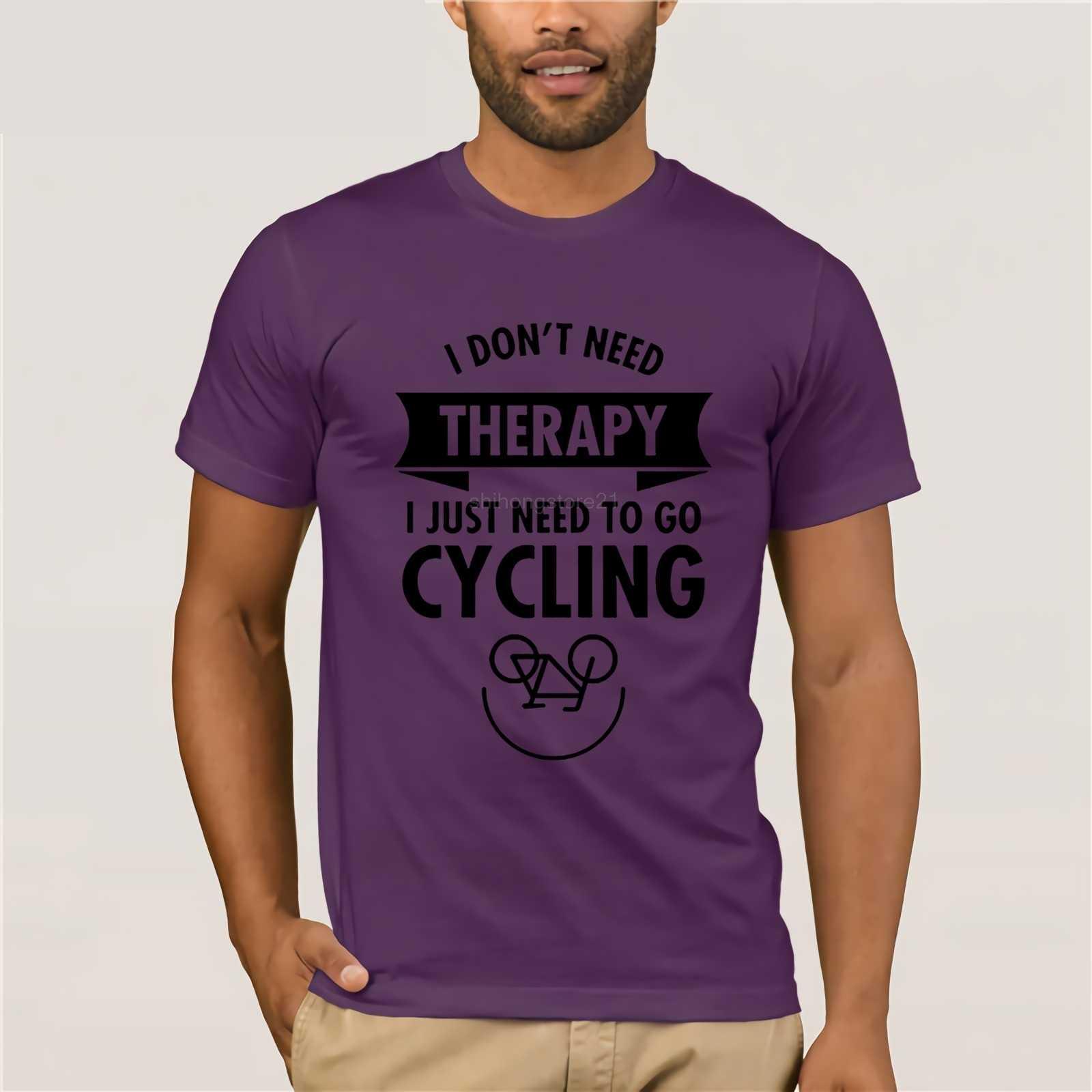 私は治療を必要と私はちょうど移動する必要があり自転車 Tシャツ男性の半袖デザイナープリントカスタムオーダーメイド基本ハイカー Tシャツ