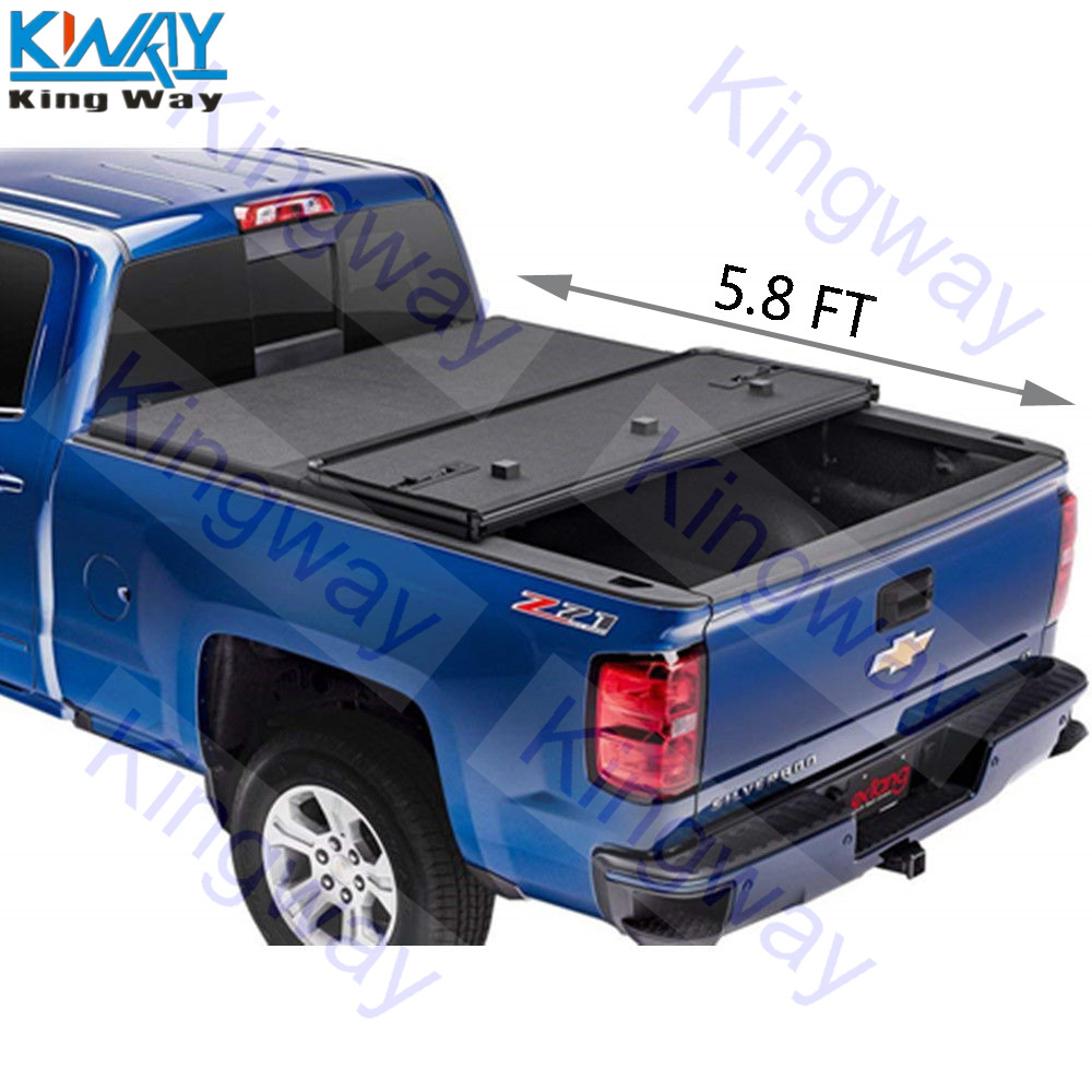 Free Shipping King Way 5 8 Ft Hard Folding Tonneau Cover For 2014