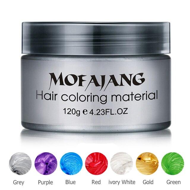 צבע שיער שעוות סטיילינג משחת כסף סבתא אפור זמני דיי הפנוי אופנה פסטיבל לחגוג דפוס צביעה בוץ קרם