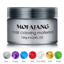 Fashion Hair Styling  DIY Tool Silver Grandma Grey Blue Red Purple Hair Dye Wax Temporary Disposable Hair Dye Coloring Mud Cream
