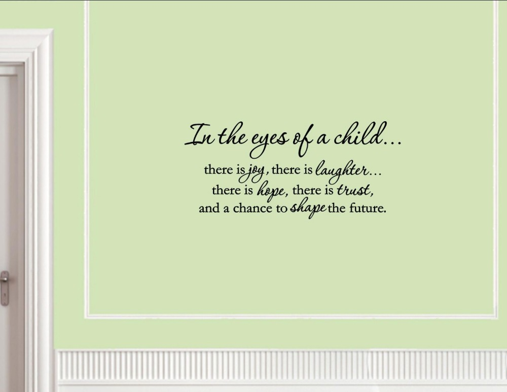 In The Eyes Of A Childthere Is Joy Vinyl Wall Decals Quotes