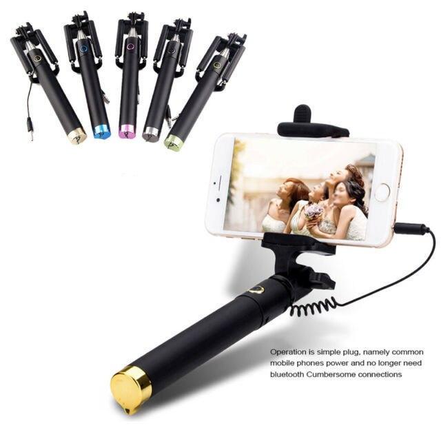 universal mini selfie stick monopod for iphone 6 6s plus 5 5s se 4 4s samsung. Black Bedroom Furniture Sets. Home Design Ideas