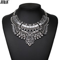 2017 New good quality ethnic bohemian fashion bib necklace costume choker pendant statement JURAN Fashion Jewelry Black  white