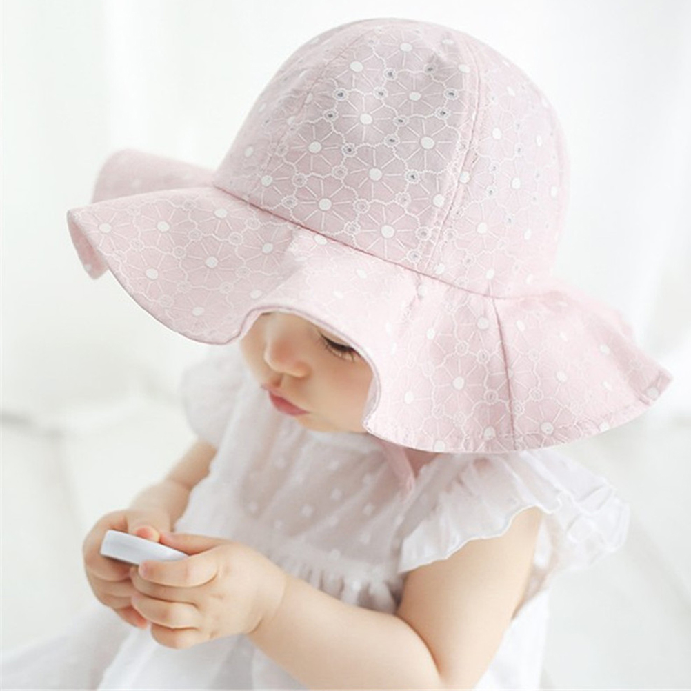b8fd82ab078 Best Price Infant Toddlers Kids Summer Hat Wide Wave Brim Sun block Beach  Cap-in Beach Caps from Sports   Entertainment on Aliexpress.com