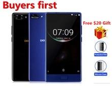 """Doogee de Mélange Mobile Téléphone 5.5 """"Helio P25 Octa Core 4 GB/6 GB RAM + 64 GB ROM 8MP + 16MP Double Arrière Cam D'empreintes Digitales Lunette-moins smartphone"""