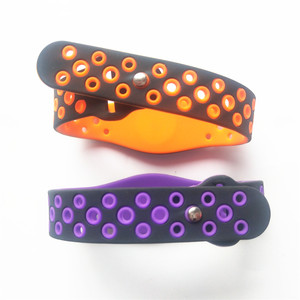 Image 4 - 125KHZ Read Only Adjustable Silicone Waterproof RFID Wristband Bracelet TK4100 ID Tags EM4100 Keyfobs Tag Token Band