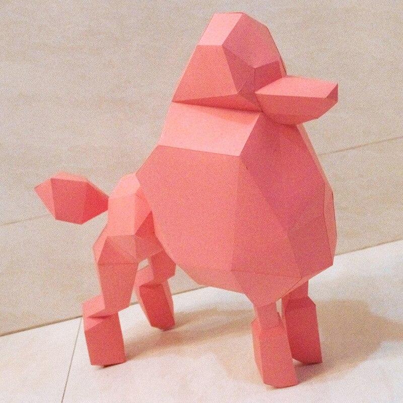 DIY 3D головоломки Бумага качество Модель Руководство трехмерная Бумага Модель Дети выгодно Мудрость Игрушки-Poddle (16 страниц)