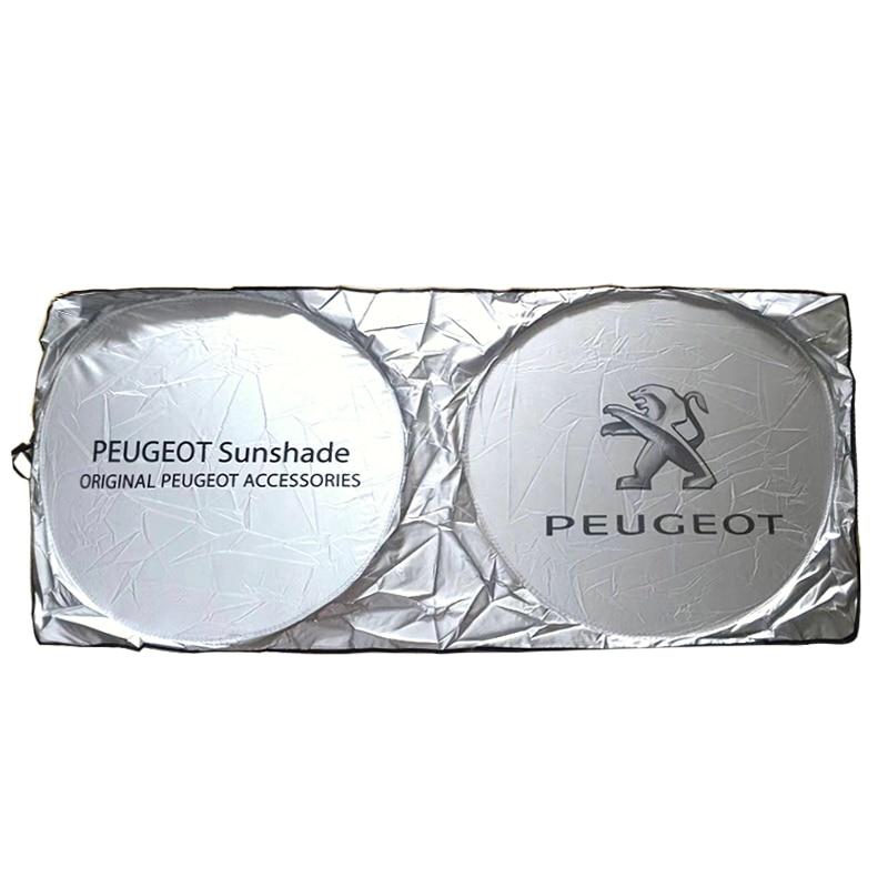 Car Sunshade Windshield for dongfeng Peugeot logo Front Window rain Sun Visor Shade Cover Rear Side Shield UV Protector Sunshad