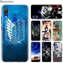 anime Attack On Titan girl Case Cover for Xiaomi Redmi 7 6 6A 5 Plus 5A Note 5 6 7 Pro 4X S2 GO Pocophone F1 Phone case Coque(China)