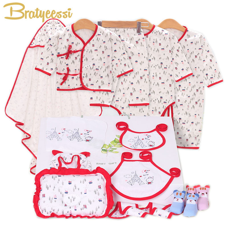 16/13 Pcs Cotton New Born Baby Set Cartoon Print Newborn Baby Girl Clothes Gift Set for 0-3 Months claude bernard часы claude bernard 64005 3nin коллекция classic gents