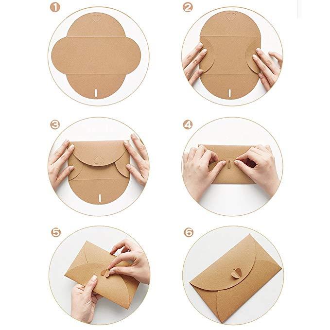 10pcs vintage Kraft paper envelope for invitations gift wedding envelopes decoration stationery paper school mini envelope 6