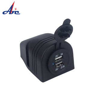 12V Universal Dual USB Car Cigarette Lighter Socket Splitter DS2 Series Mobilephone Charger Power Adapter image