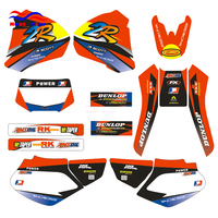 Customized Number Team GRAPHICS BACKGROUND DECAL STICKER For HONDA XR250 XR450 XR 250CC 450CC 1998 1999 2000 2001 2002 2003 2004