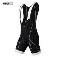 WOSAWE Summer Mens Cycling Bib Shorts Quick Dry Breathable Bicycle Shorts 3D Gel Pad Bike Bib