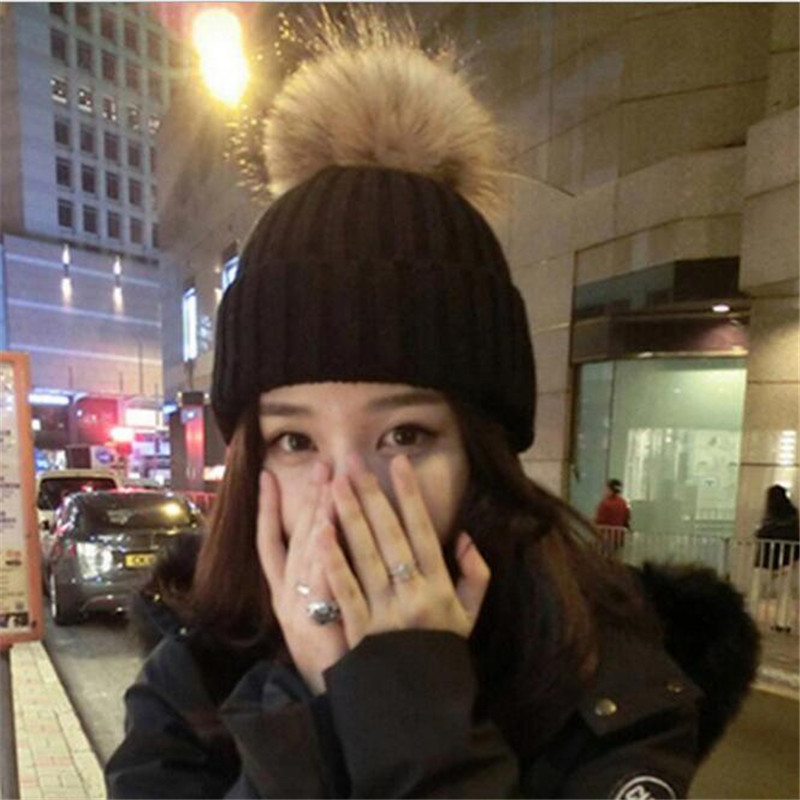free shipping 2017 new fashion winter high quality acrylic hat knitted hat bonnet ladies casual cap for women ladies LannyQveen Hat  Ladies' Autumn Winter Hat Winter Thick Warm Cap Knitted Hat Beanies Fashion  Casual Cap For Women