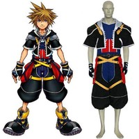 Game Kingdom Hearts 1 3 Cosplay Sora Costume Anime Carnival Adult Costume Halloween Full Set Male Men Sweater Jackets Party Suit