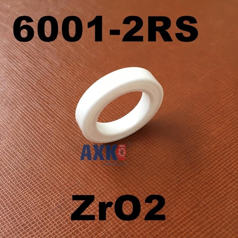 Free shipping 6001-2RS full ZrO2 ceramic deep groove ball bearing 12x28x8mm 6001 2RS P5 ABEC5 6202 2rs full zro2 ceramic deep groove ball bearing 15x35x11mm 6202 2rs