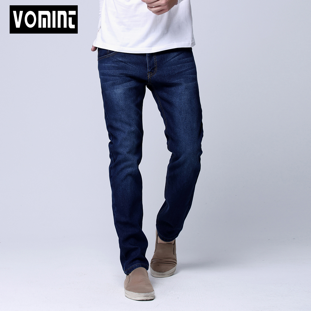 Hot Sale Winter Warm Men Slim Straight Jean Casual Thicken Flannel Fleece Jean Elastic Wash Jean Big Size 29-40 S6WJ023