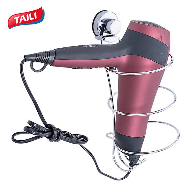 Krom saç kurutma makinesi raf hiçbir sondaj güçlü vakumlu kanca