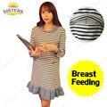 Материнства Юбка Пижамы для Беременных Женщин Пижамы Платья Одежда Лактации Одежда для Кормящих Кормящих Одежды Ночной Рубашке