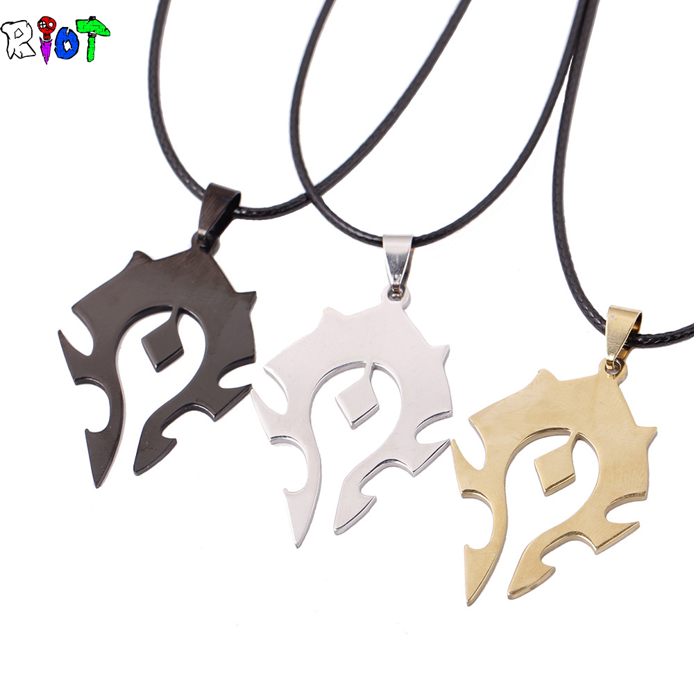 Hot game jewelry pendants world of warcraft horde alliance logo hot game jewelry pendants world of warcraft horde alliance logo necklace men stainless steel necklace wholesale in pendant necklaces from jewelry aloadofball Gallery