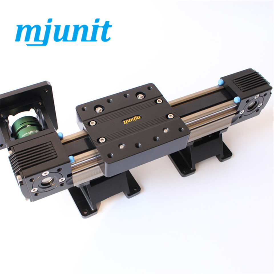 MJUNIT MJ45 High Precision And Good Price Linear Guide Rail Belt Driven Linear Slide Rail for motor 57 belt driven linear slide rail belt drive guideway professional manufacturer of actuator system axis positioning