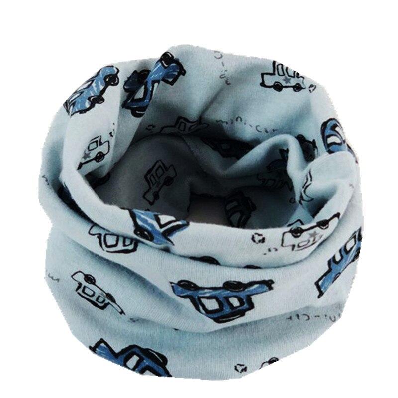 Осенне-зимний детский хлопковый плюшевый шарф, детский шарф для девочек, шарфы для мальчиков и девочек, детский воротник, детский волшебный шейный платок с круглым вырезом - Цвет: blue car