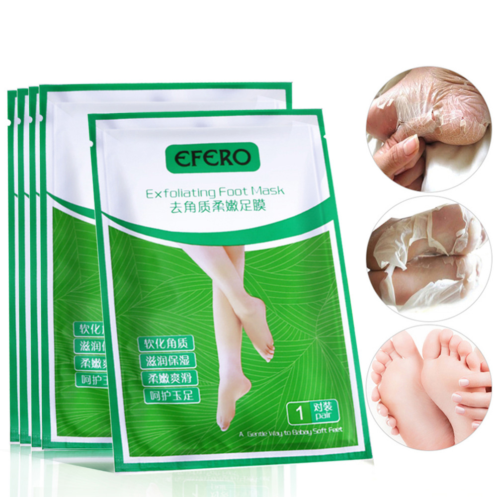 2pair Baby Foot Mask Exfoliating Foot Mask Feet Cream Nourish Moisturizing Smooth Calluses Peeling Feet Care Socks for Pedicure 1