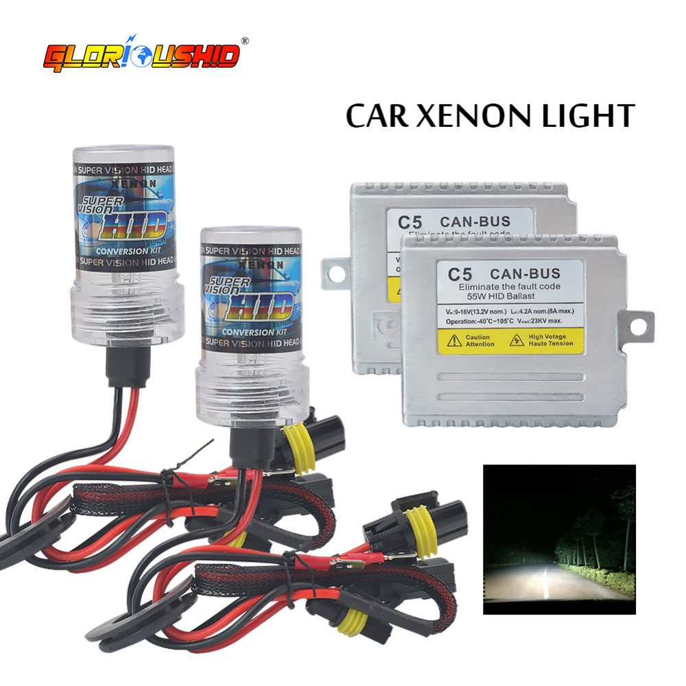 Xenón H7 C5 55 W Canbus xenon H4 9005 9006 881 H7 H1 H3 H11 kit ocultado 4300 K 5000 K 6000 K 8000 K lastre electrónico xenon kit AC 12 V