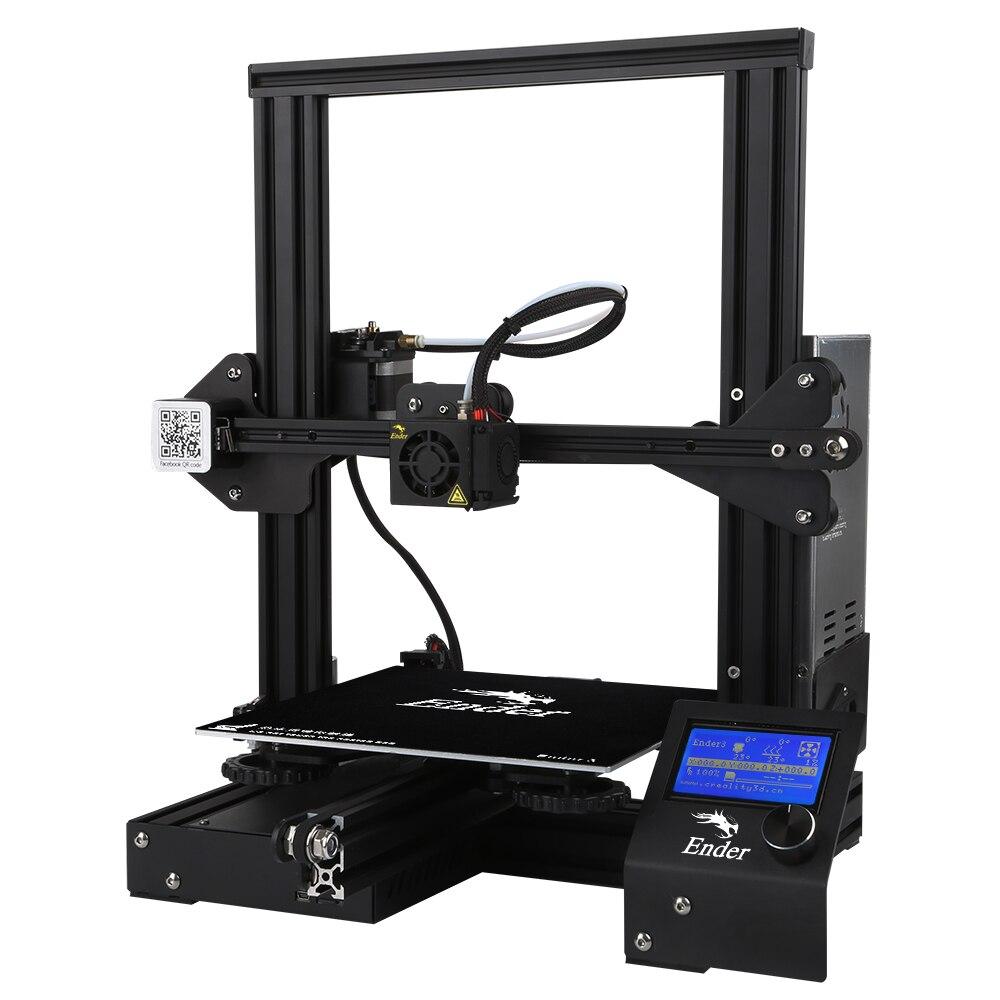 Creality3D Ender-3 V-slot Prusa I3 bricolage 3D kit imprimante 220x220x250mm avec MK10 extrudeuse 1.75mm 0.4mm Buse