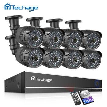 8CH 1080 P กล้องวงจรปิดความปลอดภัยระบบ 8CH AHD DVR ชุด 2.0MP IR Night Vision กล้องกันน้ำกลางแจ้ง P2P การเฝ้าระวังวิดีโอช...