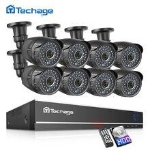 Techage 8CH 1080P CCTV מערכת AHD DVR ערכת 2MP IR חיצוני עמיד למים מצלמה אבטחת בית P2P וידאו מעקב סט 2TB HDD