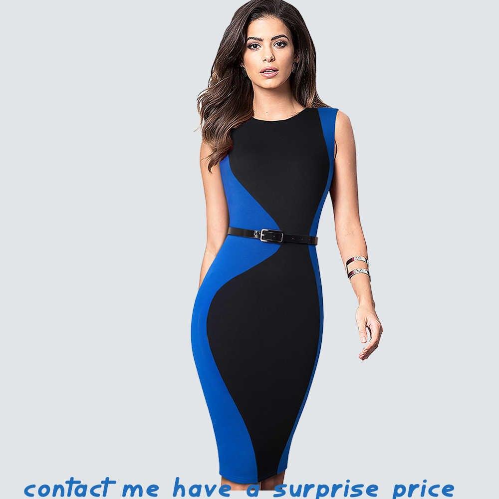 Женское платье в стиле пэчворк с поясом, деловое пикантное до колена, винтажный узкий сарафан, для лета, HB501