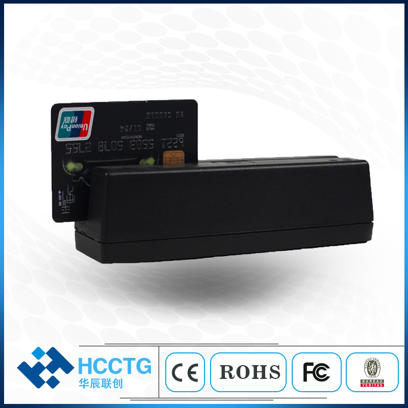 Mini 1 & 2 & 3 pistes MSR USB lecteur de carte à bande magnétique HCC720U
