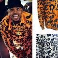 Chris Brown Estilo de Design da marca DSQ Homens Carta Impressão Camisolas Outono Primavera Pop Art Treinamento Moletom Bordado Esporte Outwear