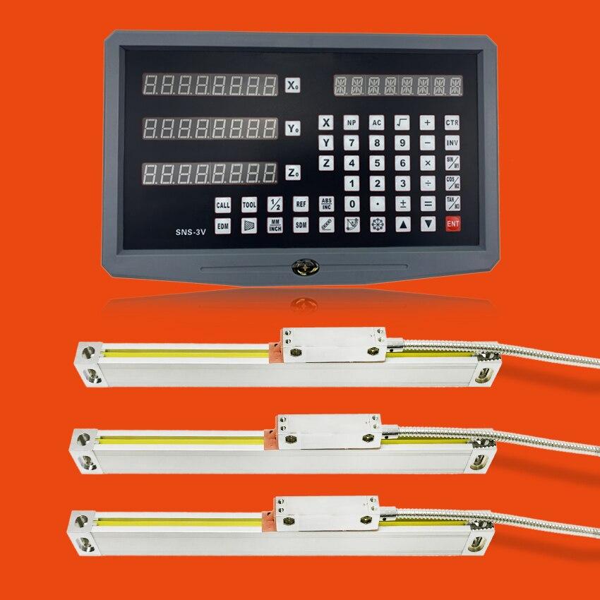 Фрезерные станки аксессуары Цифровая Индикация 3 оси и 3 шт. 5u линейный оптический линейка оптическая линия Линейный энкодер 200 300 400 500