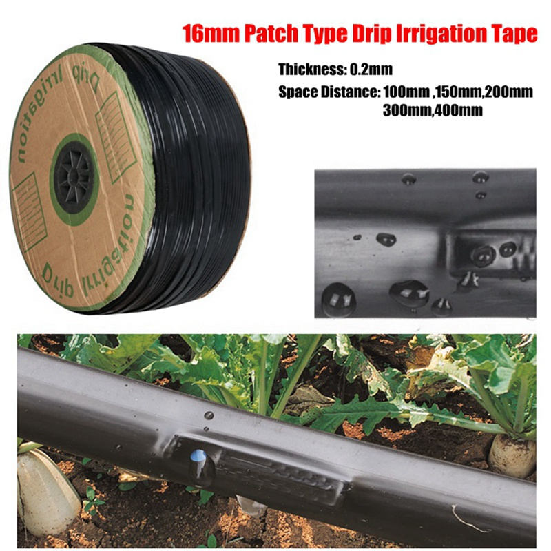 Wholesale 1000m 16mm 0 2mm Patch Type Rain Drip Tape Agricultural Drip Irrigation System Water Hose