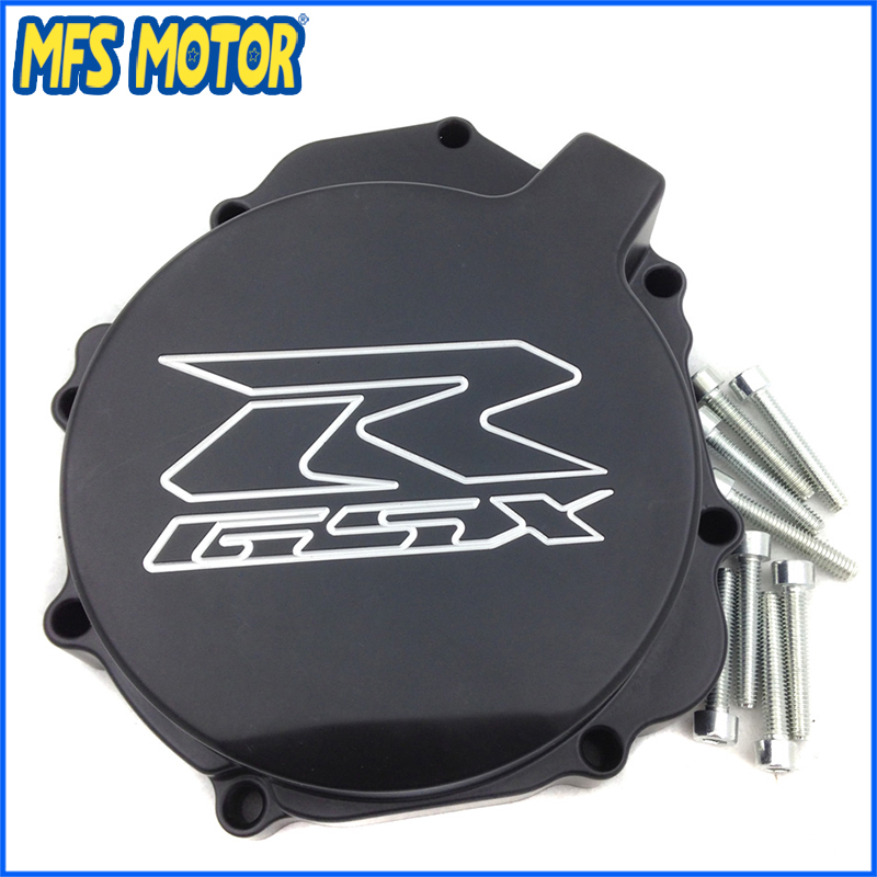Freeshipping Motorcycle Left side Engine Stator cover For Suzuki GSXR600 750 2004 2005 GSXR1000 2003 2004 Black aftermarket free shipping motorcycle part engine stator cover for suzuki gsxr600 750 2006 2007 2008 2009 2013 black left side