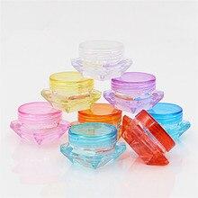 10 ピース/ロット詰め替えボトル化粧品容器化粧クリームネイルアートリップクリーム容器収納旅行ポータブルプラスチック瓶