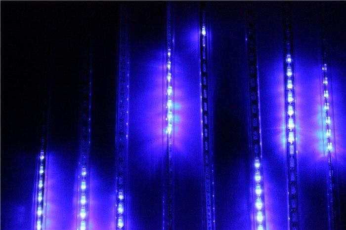 Hot Selling 30CM Meteor Shower Rain Tubes LED Light For Christmas Wedding Garden Decoration 100-240V EU /US Plug RGB White Blue led meteor rain 8 tube light white eu plug ac 100 240v
