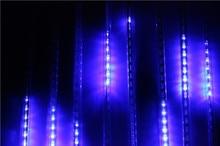 Venta caliente 30 CM lluvia de Meteoros Lluvia Tubos LED Luz Para navidad de La Boda Decoración de Jardín 100-240 V de LA UE/EE.UU. Plug RGB Blanco azul