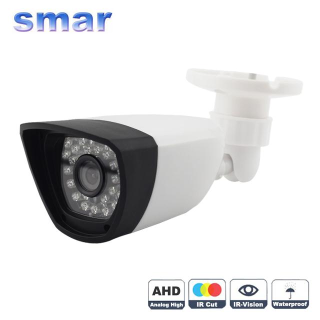 AHD Analógico Câmera de Vigilância de Alta Definição 720 P/960 P/1080 P AHD Câmera de CCTV Keamanan IR Ao Ar Livre Filtro de corte IR 30 LEDS de Plástico