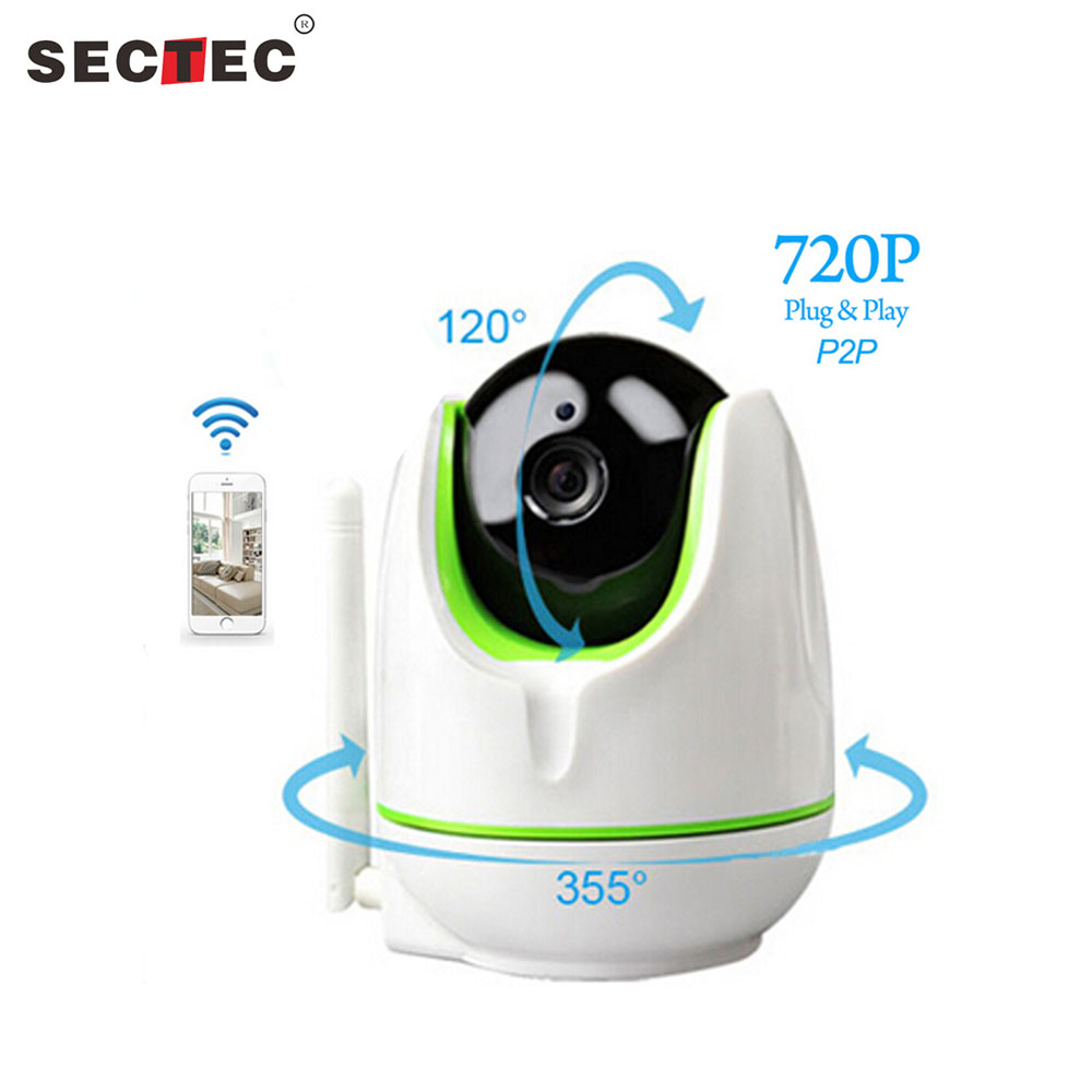 SECTEC Wireless 720P IP Camera WiFi IP Camera Two Way Audio Baby Monitor Pan Tilt Security Camera Easy Operate CCTV Video Camera fghgf 720p wireless ip security camera baby pet video monitor home security system with pan and tilt two way audio night vision