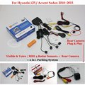 Для Hyundai i25/Accent Седан Автомобилей Датчики Парковки + Вид Сзади резервное Копирование Камеры = 2 в 1 Видео/BIBI Сигнализации Парковочная Система