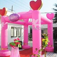 Воздуходувы! 3x3 м экономичный красивый розовый квадратный надувная колонна Свадебная палатка