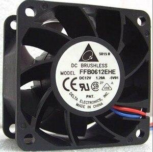 Ventilador de refrigeração de rolamento esférico, 3 fios de 6cm/12v/1,2a para delta 60*60*38mm