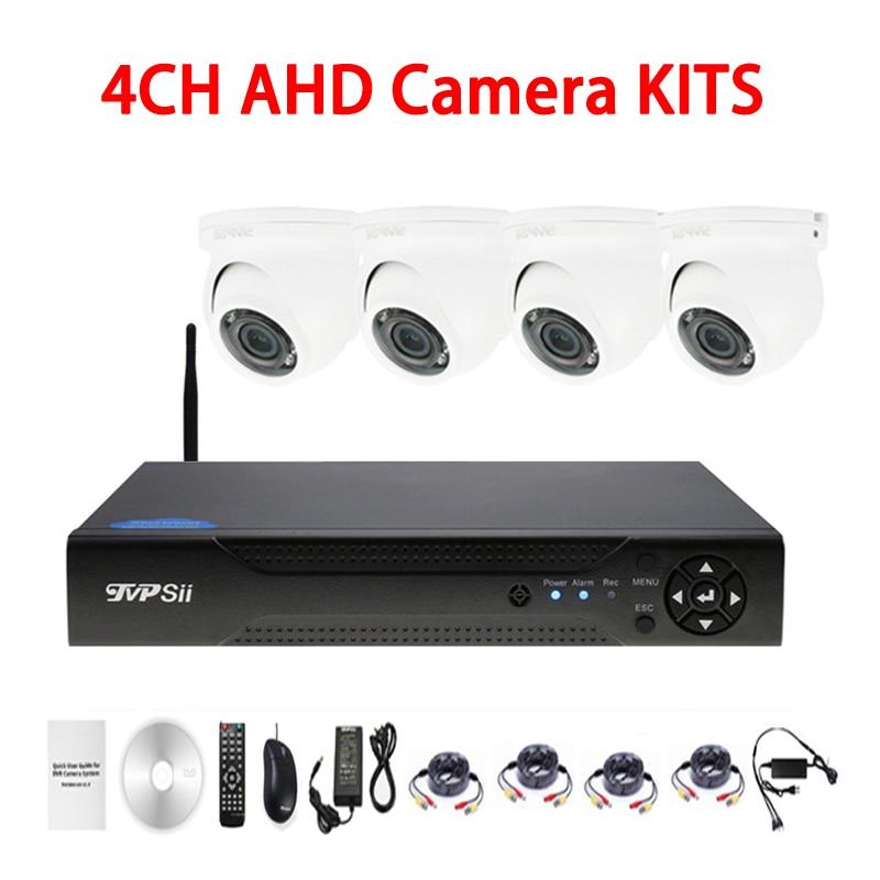 12 шт. инфракрасный светодиод 5mp/4mp/2mp/1mp Водонепроницаемый 4CH купольная WI FI AHD видеонаблюдения DVR безопасности Камера Наборы Бесплатная достав